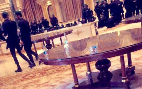 被关押在丽思卡尔顿的沙特王子们只能打地铺。