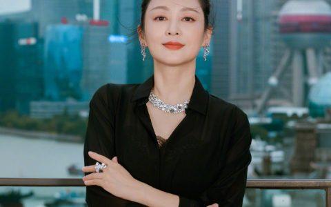 陈红出席博纳之夜活动时拍摄的一组写真,美人依旧。 