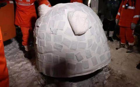嫦娥五号返回舱还是小熊造型的!