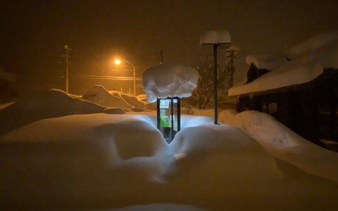 日本网友拍的:雪地中的电话亭